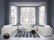 Sofa Set Leder weiß 6-Sitzer