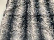 2 Stoffreste Fellimitat Chincilla 60x77cm