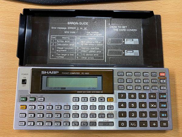 Pocket-Computer Sharp PC-1450 fast neu