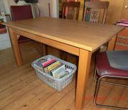 Massivholz-Tisch Ahorn Gestell aus Buche