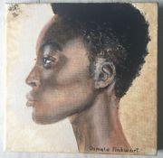 Ölgemälde Portrait Frau Gemälde Topmodel