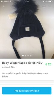 Babykappe NEU