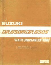 Wartungsanleitung W A Suzuki DR