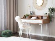 Schreibtisch braun weiß 120 x