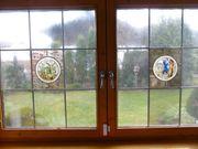 Fenster mit Antik Verglasung zu