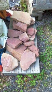 13 Sandstein Bruchsteine