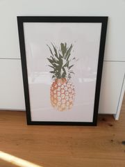 Bild Ananas gerahmt 50x70cm