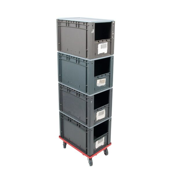 4 Euroboxen inkl Deckel Transportroller