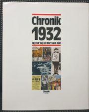 Buch Chronik 1932 - ideales Geburtstagsgeschenk