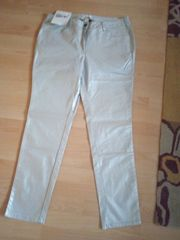 Stretchhose in silber Gr 46