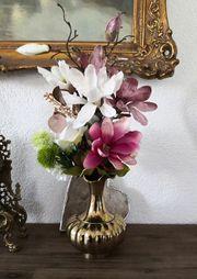 Messing Vase Blumenvase Höhe ca