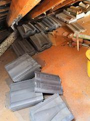Dachziegel -Dachbodenfund