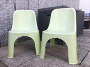2 Gartenstühle zum Stapeln für