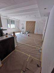 Malerarbeiten spachtelarbeit Rigipswände Decke einziehen