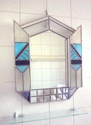 Art Deco Tiffany - Wandspiegel beleuchtbar