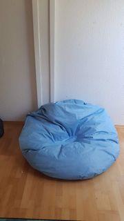 Sitzsack blau 130 cm Durchmesser