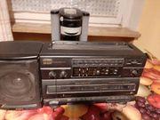 Cassettenrecorder radio und kaffeemaschine