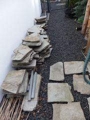 Polygonalplatten Naturstein Quarzit Terrasse Weg