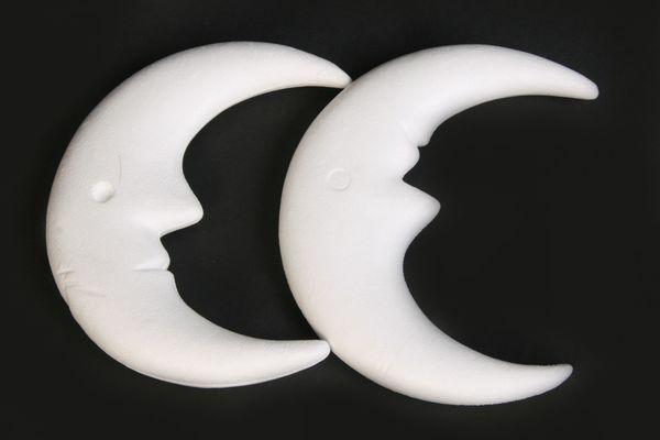 2 x Styropor-Monde 23x10 weiß