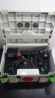Festo-Akkubohrschrauber-Doppelpack Zubehör im Umbausystainer