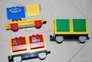 3 Lego Duplo Eisenbahn Waggons