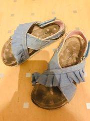 Sandalen in Jeans Look Größe