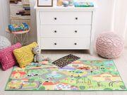Kinderteppich grün Stadt-Motiv 80 x
