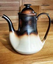 Kaffee-Kanne Suppentassen Unterteller 70er-Jahre-Stil Mancioli -