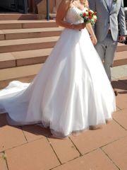 Brautkleid A-Linie -wie neu- Größe