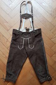 Kinder-Lederhose 3 4 lang Gr