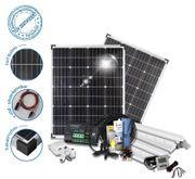 Wohnmobil Wohnwagen 200 Watt Solar-Komplettsystem