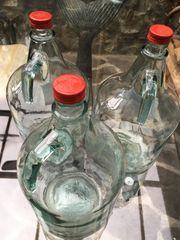 Weinballon Weinflasche Gährflasche Saftflasche Glasflasche