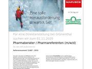 Pharmaberater Pharmareferent m w d