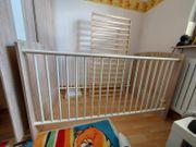 Baby- und Kleinkindbett Höhenverstellbar 140x70cm