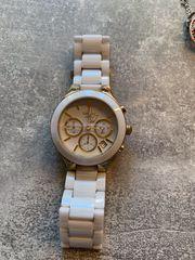 DKNY Uhr Keramik weiss gold
