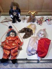 6 Puppen mit Porzellan Gesichtern