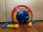 CD Player mit 2 Mikrofonen