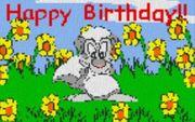 Vorlage für Ministeck Happy Birthday