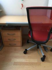 Schreibtisch mit Rollcontainer 3 Schubladen