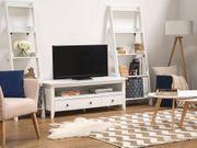 TV Möbel weiß 3 Schubladen