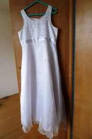 Erstkommunion-Kleid Gr 152 weiß