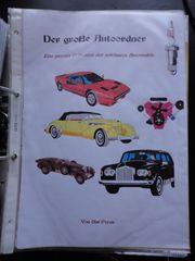 Automobilliteratur - Sammlung von Texten Bildern