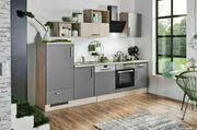 Moderne Küchenzeile Schiefergrau 280cm Neu