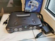 Nintendo N64 Spielekonsole komplett schwarz
