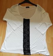 Longshirt Oberteil Gr 46 weiß