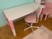 Ikea Schreibtisch weiß rosa mit