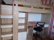 Hochbett mit Schrank Schreibtisch