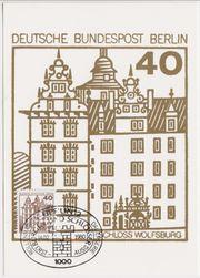 Briefmarken-Maximumkarte Berlin zur Dauerserie Schlösser