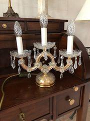 Stehlampe - Tischlampe 3-flammiger Lüster Kristall
