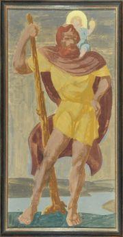 Heiliger Christophorus Jesus Kind Gemälde
